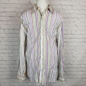 Robert Graham|Colorful Striped Button Down Shirt